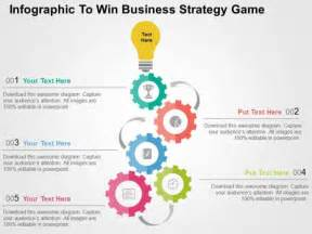 business strategy template infographic to win business strategy powerpoint