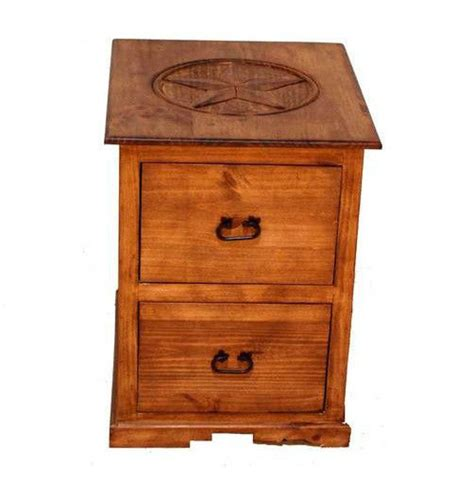 Rustic 2 Drawer File Cabinet With Star Western Office Rustic Wood File Cabinet