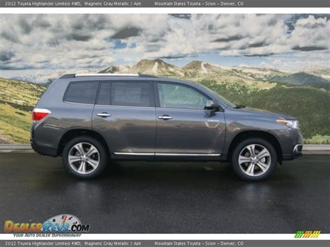 Gray Toyota Service 2012 Toyota Highlander Limited 4wd Magnetic Gray Metallic