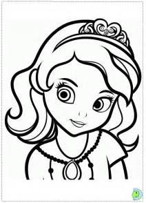 sophia the first coloring page az coloring pages