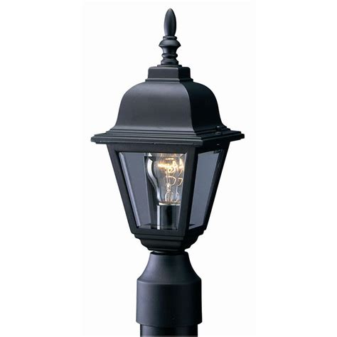 Home Depot Outside Light Fixtures Design House Maple Black Outdoor Die Cast Post Mount Light Fixture 507509 The Home Depot