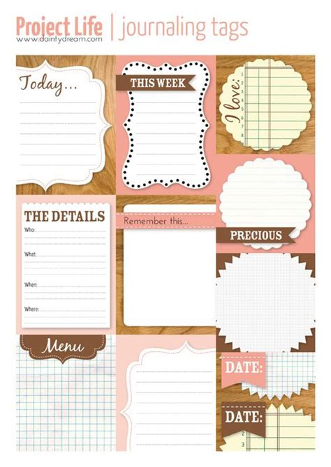 free journal card templates 17 best images about journaling on mission