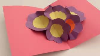 Origami Flower Pop Up Card - card invitation design ideas how to make a 3d flower pop