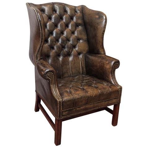 vintage wingback armchair antique english wing chair at 1stdibs