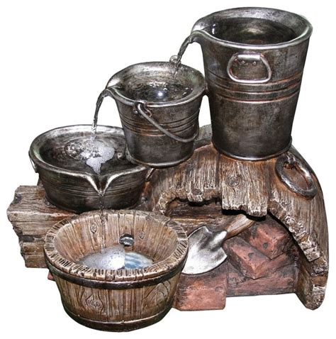 yosemite home decor fountains yosemite home decor three layered water bucket indoor