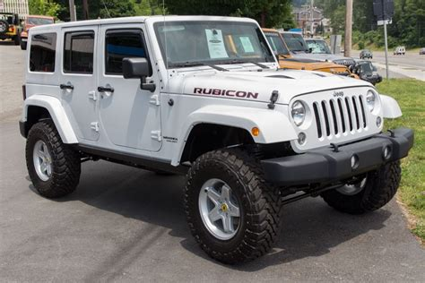 Rubicon Jeep For Sale 2014 White Jeep Rubicon Unlimited For Sale