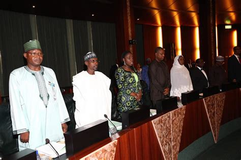 federal bank meeting today photos buhari at fec meeting today punch newspapers
