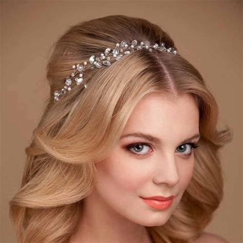 handmade rhinestone wedding accessories bridal head