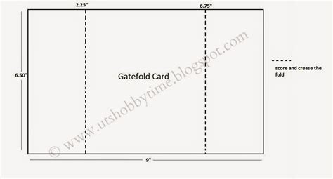 gate fold single card template fold out card template uts hobby time handmade gate