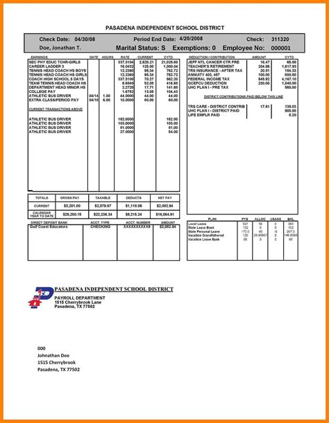 Free Self Employed Pay Stub Template 5 Self Employed Pay Stub Template Sles Of Paystubs