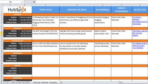Le Problematiche Da Affrontare Quando Si Lancia Un Blog Aziendale Web In Fermento Editorial Calendar Template Sheets