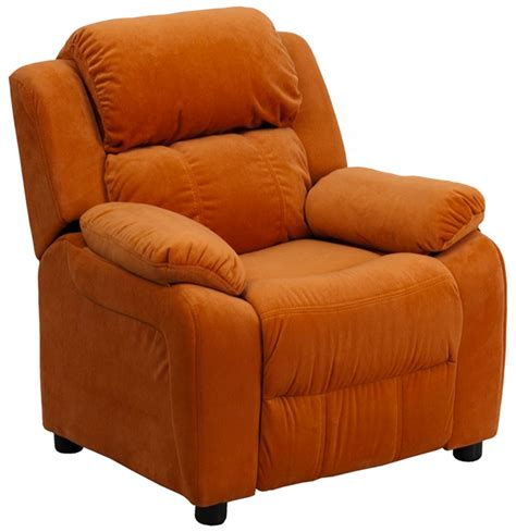recliner with arm storage kids recliner with storage arms in kids lounge chairs