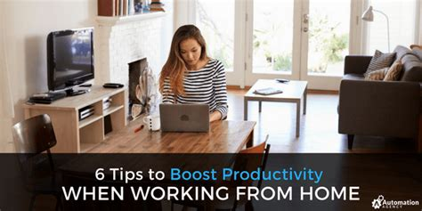 6 tips to boost productivity when working from home