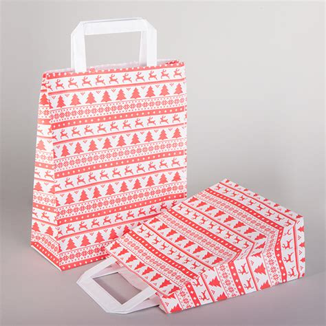 fairisle paper carrier bags from carrier bag shop