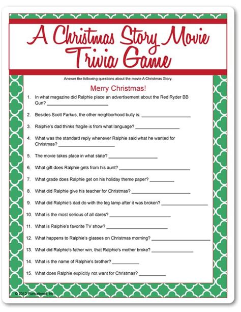 printable christmas film quiz a christmas story christmas movies and movies on pinterest