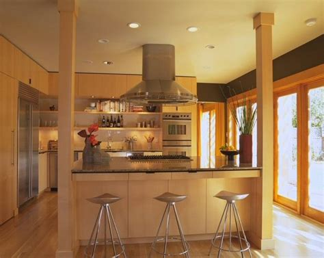 kitchen island post contemporary kitchen by mark brand architecture