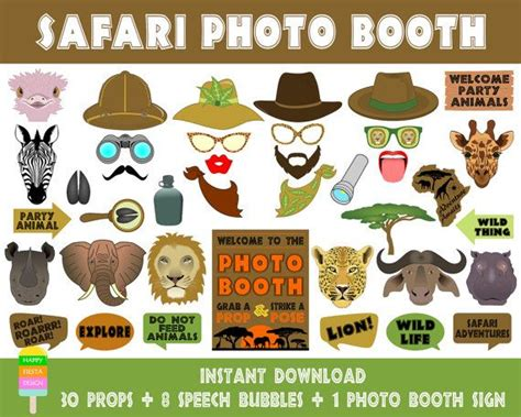 instant download animal print photo booth props safari the 25 best safari photo booth ideas on pinterest