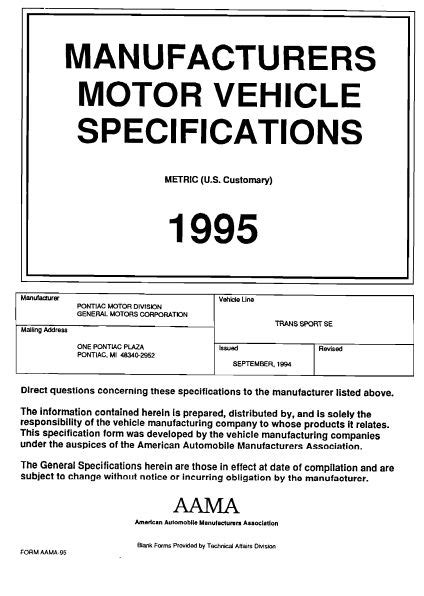 service manual 1995 pontiac trans sport dispatch workshop manuals 2000 pontiac sunbird