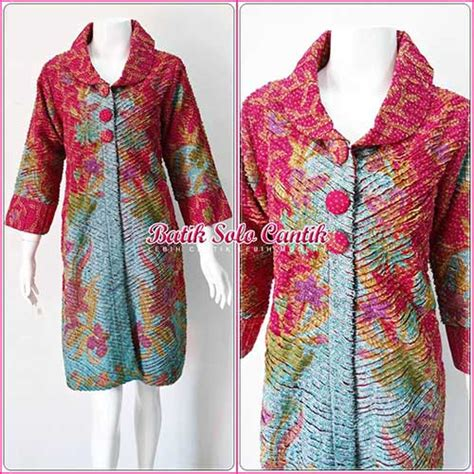 Dress Batik Sinaran Sogan pin baju batik souvenir celengan sweet cake wafer dan