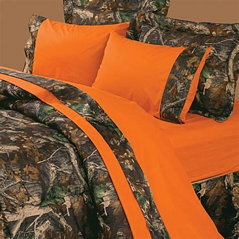 orange camo bedding buy oak camo 4 piece king sheet set from bed bath beyond