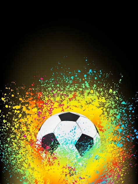 Home Design Game How To Play by Abstract Background With A Soccer Ball Eps 8 Vector File