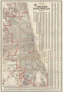 Chicago Street Numbers Map by Geographicus Rare Antique Maps