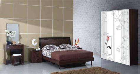 Simple Wardrobe Designs For Small Bedroom by Simple Bedroom Design With Background Wall And Wardrobe