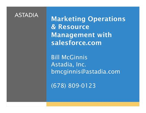 Mba Marketing Operations by Marketing Operations And Resource Management With