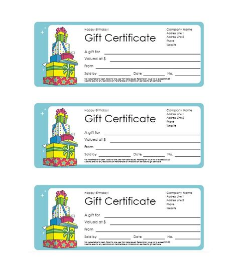 homemade gift certificate templates 8 free word pdf documents