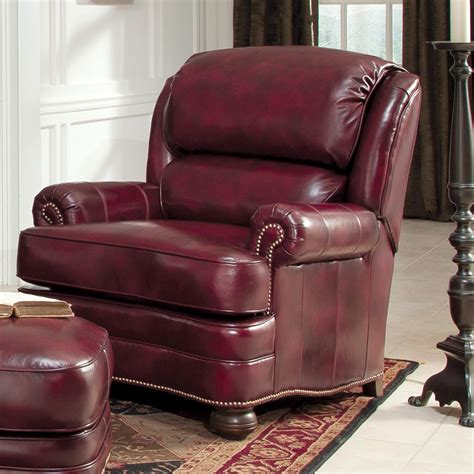 Upholstered Chair And Ottoman Sets Smith Brothers 311 Leather Upholstered Chair And Ottoman Dunk Bright Furniture Chair