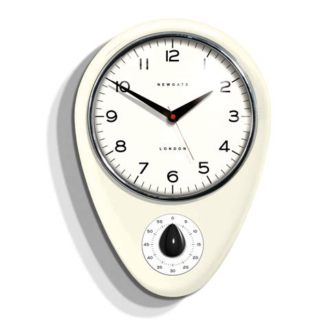 kitchen clocks newgate clocks discovery kitchen timer wall clock linen white