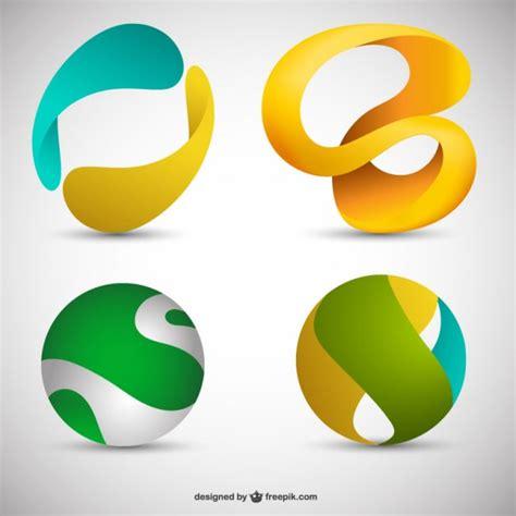 imagenes vectores logos logos 3d descargar vectores gratis