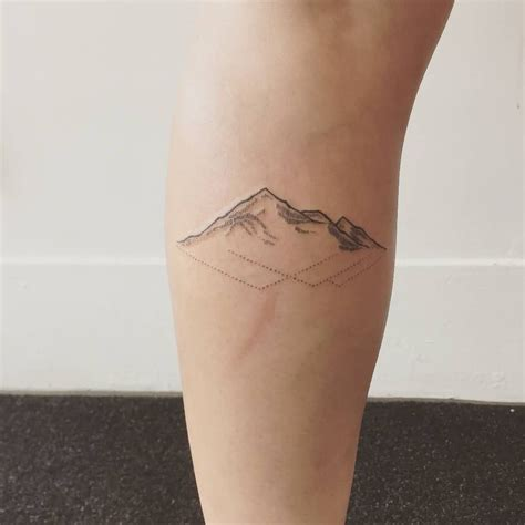 reflection tattoos small mountains with reflection style inspiration