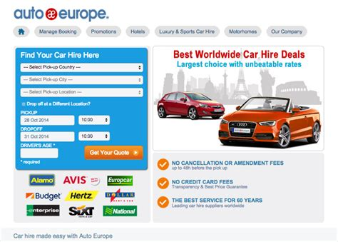 Auto Europe UK Review   BrokeinLondon