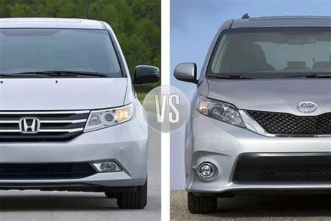 2014 toyota sienna vs 2014 honda odyssey car interior design