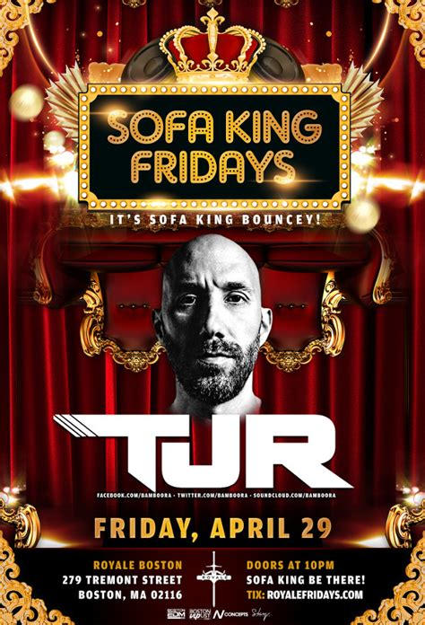 sofa king song tjr royale 4 29 16 10 00 pm 21 tickets wantickets