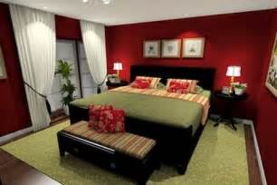 red room colors red bedroom paint with green accents dark wood furniture
