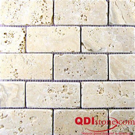 walnut travertine mosaic tile qdisurfaces