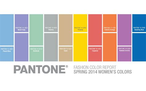 pantone color forecast pantone releases their spring 2014 fashion color report