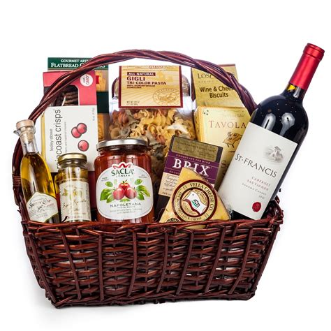dinner gifts italian evening gift basket wine and chagne gifts by