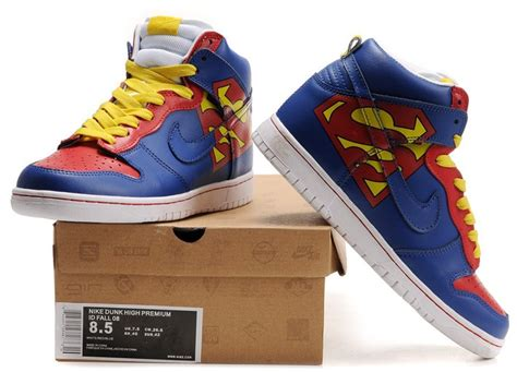 superman shoes nike superman superman nikes dunk high premium id blue