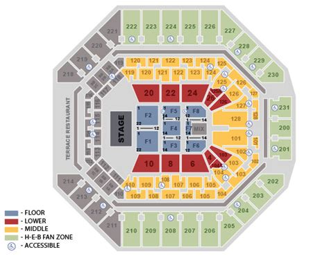 att center seating map seating charts att center