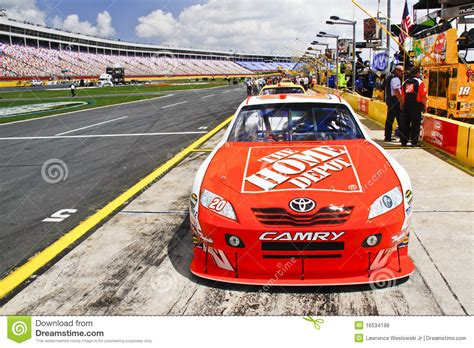 nascar home depot sponsorship editorial stock photo