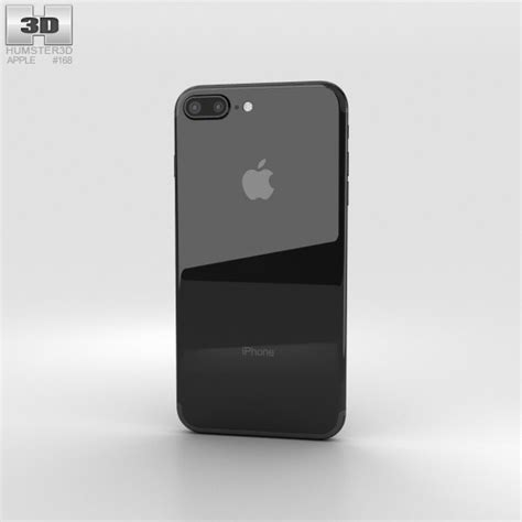 apple iphone 7 plus jet black 3d model hum3d