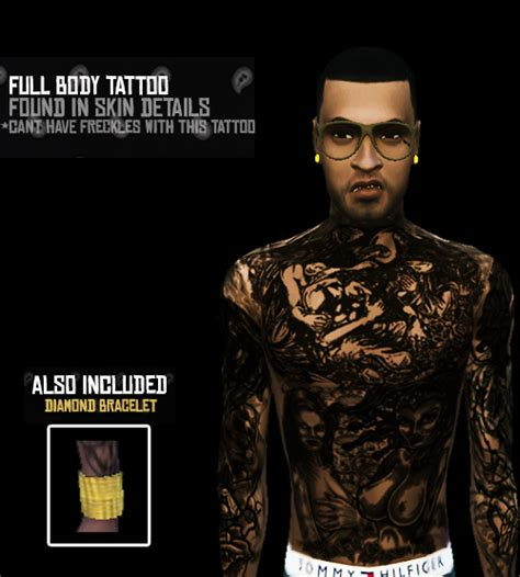 full body tattoo the sims 3 image
