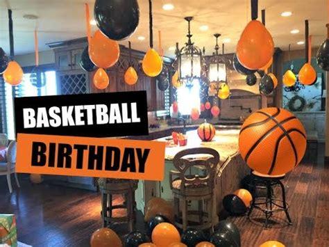 decorating for basketball birthday