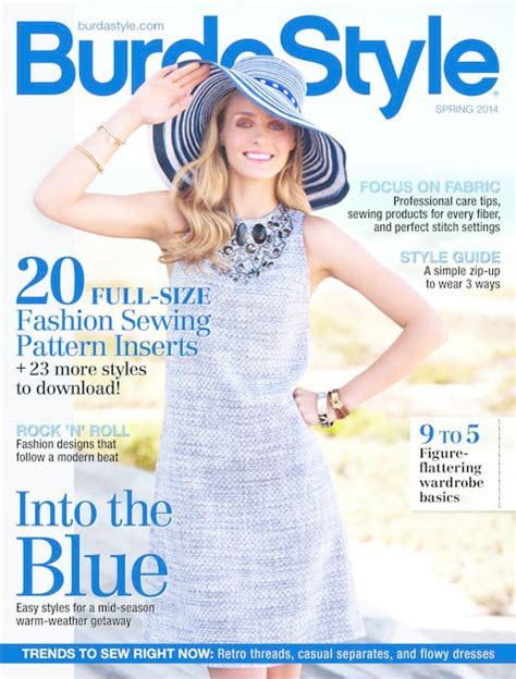 pattern sewing magazine burdastyle magazine 2014 spring digital issue 2014s