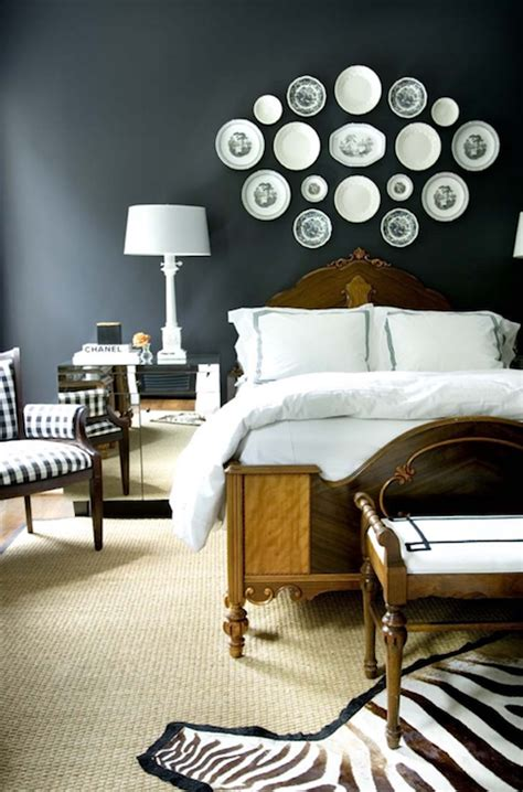 Decorative Bedroom by Decorative Wall Plates Eclectic Bedroom