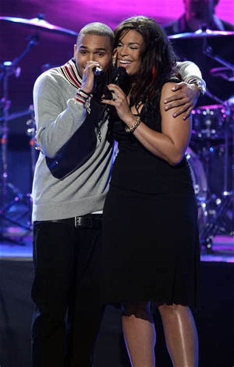 Jordin Sparks And Chris Brown On The Set Of No Air by Chris Brown And Jordin Sparks Perform On American Idol