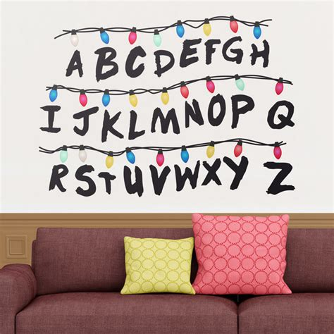 Abc Wall Stickers wall sticker stranger things alphabet muraldecal com